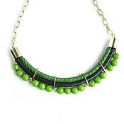 Украшения handmade. Livemaster - original item Fashion necklace,green necklace,black necklace,bright necklace. Handmade.