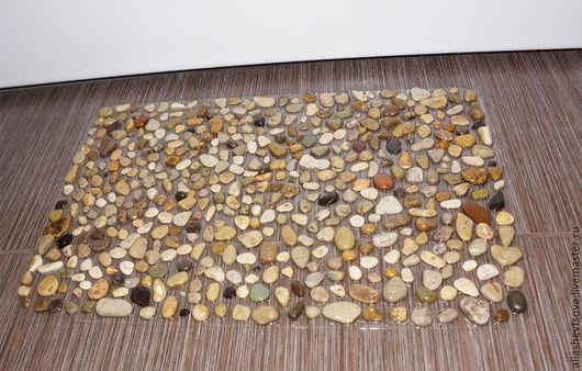 Ванная комната ручной работы. Ярмарка Мастеров - ручная работа. Купить Массажный коврик с морскими камнями. Handmade. Массажный коврик