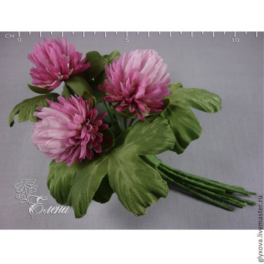 """Броши ручной работы. Ярмарка Мастеров - ручная работа. Купить Клевер """"Летний аромат"""". Handmade. Шелковая флористика, луговые цветы"""