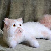 """Куклы и игрушки ручной работы. Ярмарка Мастеров - ручная работа войлочная игрушка кот """"Ивашка"""". Handmade."""