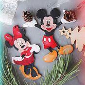 Куклы и пупсы ручной работы. Ярмарка Мастеров - ручная работа Микки и Минни Маус, елочная игрушка. Handmade.