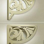 Изделия ручной работы. Ярмарка Мастеров - ручная работа Кронштейны для полок Лилии пара. Handmade.