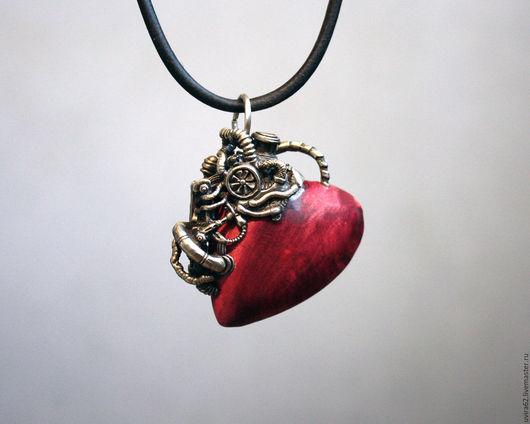 """Кулоны, подвески ручной работы. Ярмарка Мастеров - ручная работа. Купить Кулон - """" И сердце бьётся как мотор"""". Handmade."""