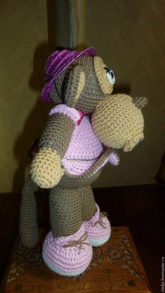 Игрушки животные, ручной работы. Ярмарка Мастеров - ручная работа. Купить Большая обезьяна. Handmade. Коричневый, обезьянка в подарок, подарок