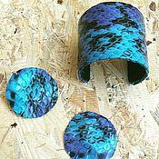 Комплекты аксессуаров ручной работы. Ярмарка Мастеров - ручная работа Комплект из змеиной кожи. Handmade.
