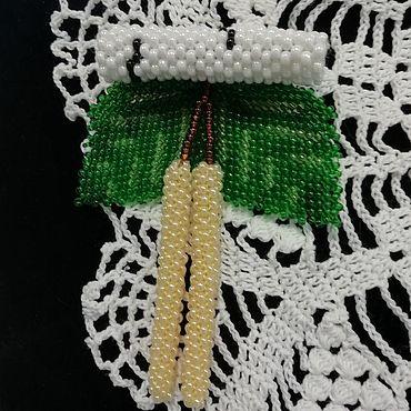 """Украшения ручной работы. Ярмарка Мастеров - ручная работа Броши:"""" Березовые сережки """". Handmade."""