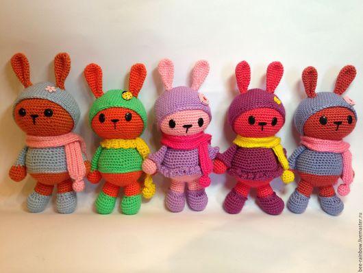Игрушки животные, ручной работы. Ярмарка Мастеров - ручная работа. Купить Вязаная игрушка заяц. Handmade. Зайка, акриловая пряжа