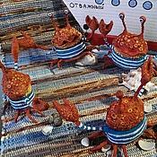 Куклы и игрушки ручной работы. Ярмарка Мастеров - ручная работа Крабик матросик. Handmade.