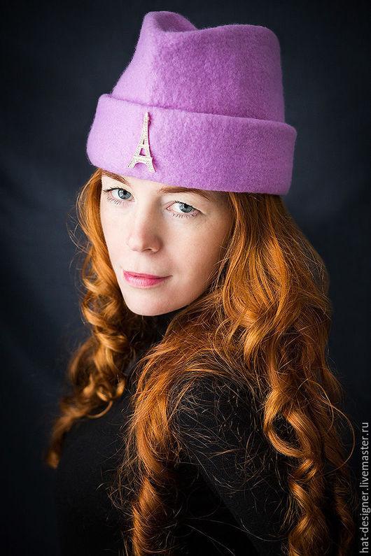"""Шляпы ручной работы. Ярмарка Мастеров - ручная работа. Купить Шляпка  пилотка женская """"Аристократка"""". Handmade. Сиреневый, шапка женская"""