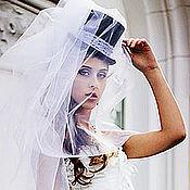 Аксессуары handmade. Livemaster - original item Wedding hat with veil. Black. Handmade.