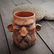 Mugs handmade. Livemaster - original item Gift solid man Mug ceramic. Handmade.