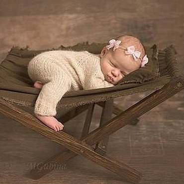 Сувениры и подарки ручной работы. Ярмарка Мастеров - ручная работа Гамак для фотосессии новорожденных Коричневый. Handmade.