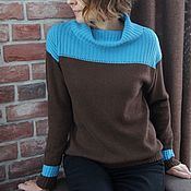 Одежда handmade. Livemaster - original item Cashmere jumper Heaven and earth. Handmade.