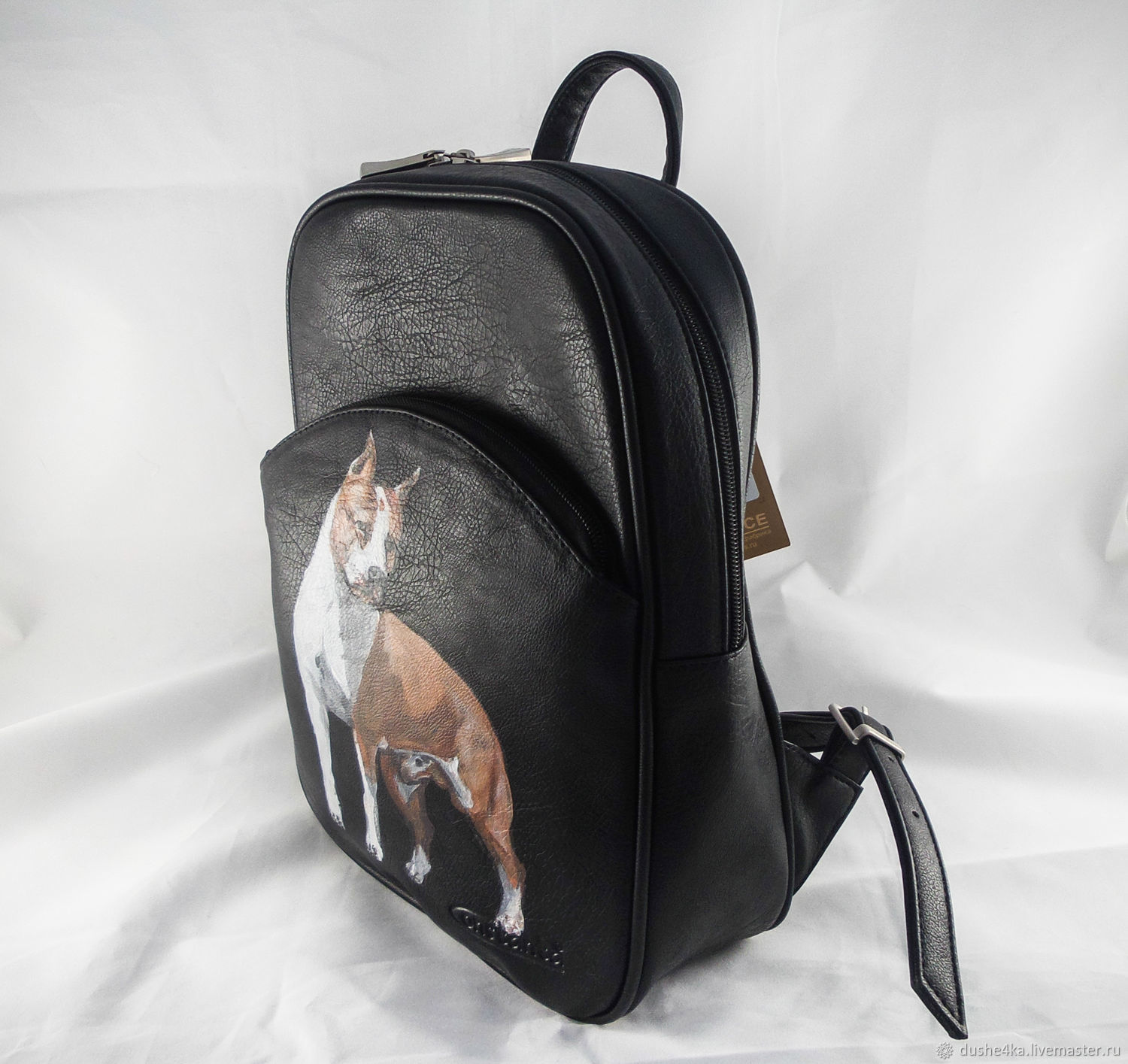 Order Womens designer backpack from a genuine print Portrait Darling.  BelkaStyle. 75a7fb62a84e8