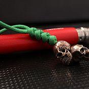 Сувениры и подарки handmade. Livemaster - original item A bead with a skull crosspiece. Handmade.