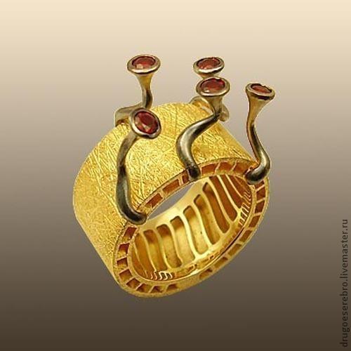 Кольца ручной работы. Ярмарка Мастеров - ручная работа. Купить Кольцо Весна на Ио, золото 585. Handmade. Необычное украшение