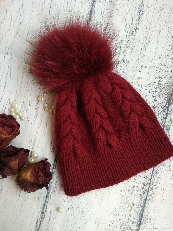 Шапка с косами – купить в интернет-магазине на Ярмарке Мастеров с ... 71d6f6d6ea9f7