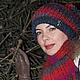Шапки ручной работы. Комплект шапочка-бохо и шарф - Молекула.. Knitted fashion by Ekaterina Bykova. Интернет-магазин Ярмарка Мастеров.
