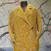 """Одежда ручной работы. Ярмарка Мастеров - ручная работа Пальто - кардиган """"Горчица букле"""", ручная работа. Handmade."""