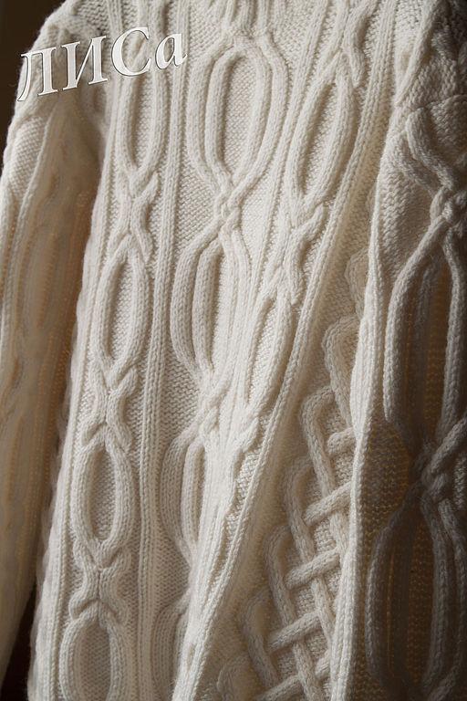 Для мужчин, ручной работы. Ярмарка Мастеров - ручная работа. Купить Мужской свитер.. Handmade. Свитер, свитер с косами, шерсть
