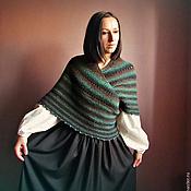 """Аксессуары ручной работы. Ярмарка Мастеров - ручная работа Традиционная датская шаль """"Esmeralda"""" ,  вязаная шаль. Handmade."""