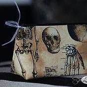 """Субкультуры ручной работы. Ярмарка Мастеров - ручная работа Косметичка """"Anatomical"""" бежевая. Handmade."""