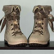 """Обувь ручной работы. Ярмарка Мастеров - ручная работа Ботинки валяные """"Зимняя прогулка 2"""". Handmade."""