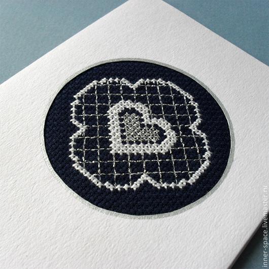 красивые открытки красивые валентинки поздравление открытки вышитые крестом вышитые открытки купить открытка с вышивкой вышивка крестом вышивка крестиком Внутреннее пространство