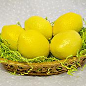 """Косметика ручной работы. Ярмарка Мастеров - ручная работа Мыло """"Лимон"""". Handmade."""