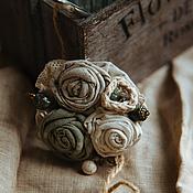 Украшения ручной работы. Ярмарка Мастеров - ручная работа Брошь Mint Flower. Handmade.