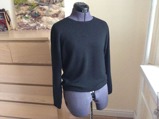 Кофты и свитера ручной работы. Ярмарка Мастеров - ручная работа. Купить Пуловер из 100% кашемира Loro Piana. Handmade. Черный