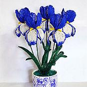 Цветы и флористика ручной работы. Ярмарка Мастеров - ручная работа Ирисы из бисера. Handmade.