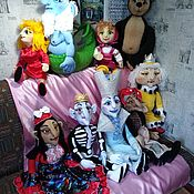 Куклы и игрушки handmade. Livemaster - original item Puppet theatre: The performance of the 9 tablet dolls.. Handmade.