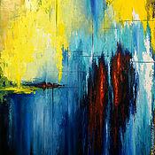 """Картины и панно ручной работы. Ярмарка Мастеров - ручная работа Абстракция Картина маслом на холсте """"В огне тишины рождается истина"""". Handmade."""