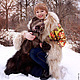 """Верхняя одежда ручной работы. Зимнее пальто """"Машенька и медведи"""".. Алёна. Ярмарка Мастеров. Мех ламы, пальто из платков"""