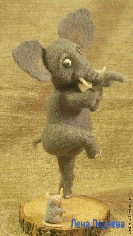 Игрушки животные, ручной работы. Ярмарка Мастеров - ручная работа. Купить слон( КОГО БОЯТСЯ СЛОНЫ?). Handmade. Серый