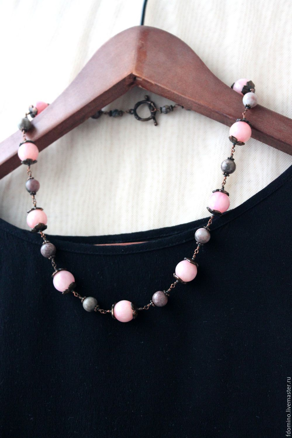Jewelry Sets handmade. Livemaster - handmade. Buy Jewelry Set Rose Garden. Necklace and earrings. Natural stones.Fdomino
