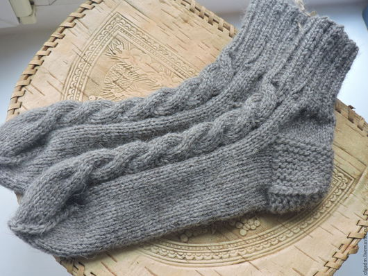 Носки, Чулки ручной работы. Ярмарка Мастеров - ручная работа. Купить Носки женские серые. Handmade. Серый, носки вязаные