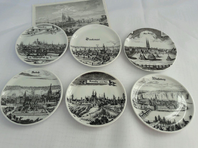 Винтаж: Продано. Декоративные тарелочки под стаканы Германия, Винтажная посуда, Гоппинген, Фото №1