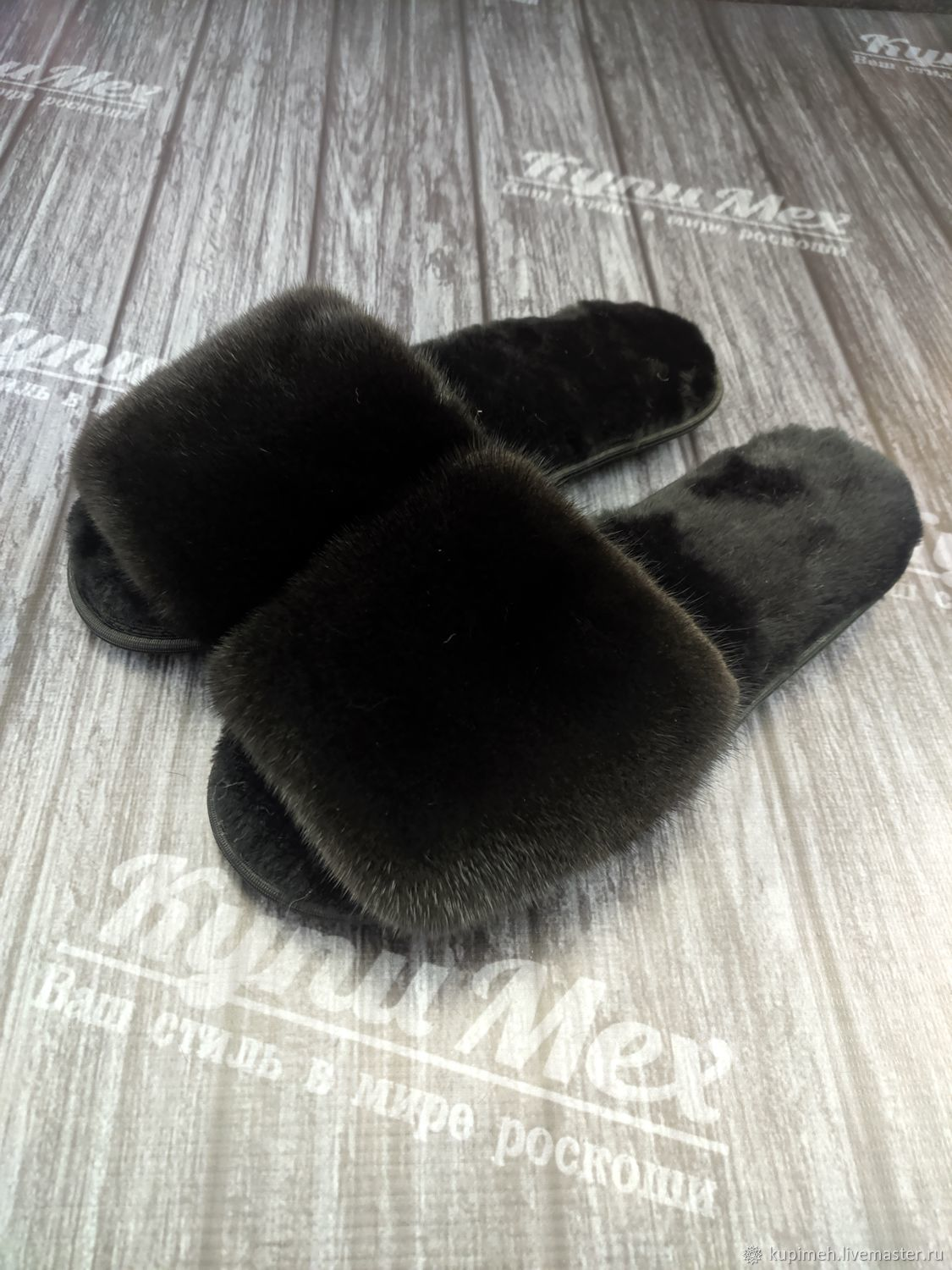 Home Slippers made of mink fur, Slippers, Nalchik,  Фото №1