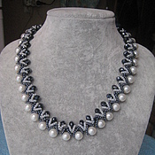 Украшения handmade. Livemaster - original item Snake with pearls. Handmade.