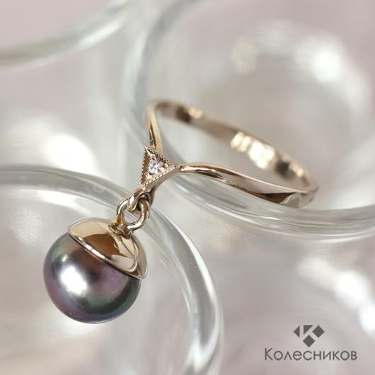 """Кольца ручной работы. Ярмарка Мастеров - ручная работа. Купить Золотое кольцо """"Капля"""". Handmade. Кольцо, кольцо с жемчугом, украшение"""