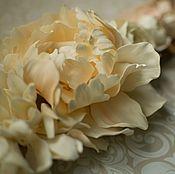 """Свадебный салон ручной работы. Ярмарка Мастеров - ручная работа Пояс с цветами для свадебного платья """"Айвори"""". Handmade."""