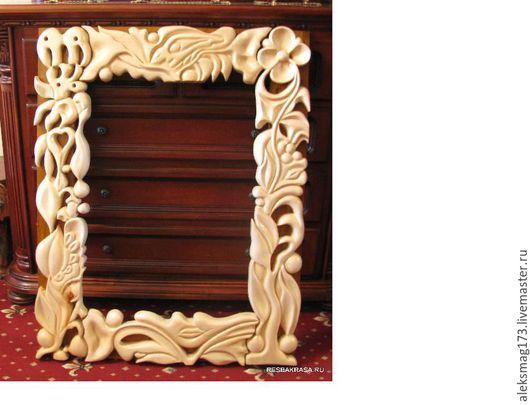 Зеркала ручной работы. Ярмарка Мастеров - ручная работа. Купить Рама для зеркала. Handmade. Рама, осина, рама, осина