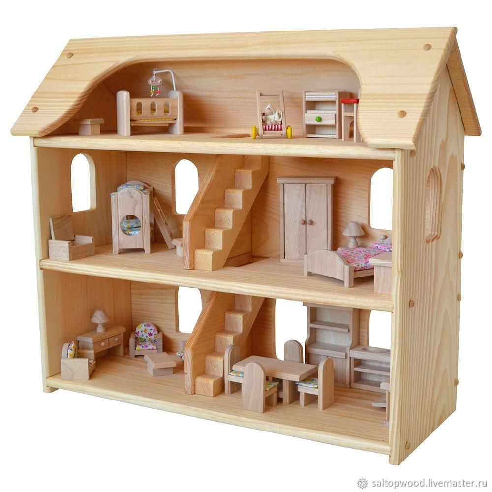 Wooden Doll House Shop Online On Livemaster With Shipping