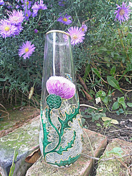 """Вазы ручной работы. Ярмарка Мастеров - ручная работа. Купить Ваза""""Колючий чертополох"""". Handmade. Разноцветный, для дома, ваза"""