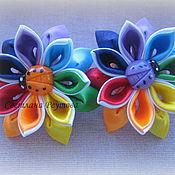 Украшения handmade. Livemaster - original item Scrunchie style kanzashi flower-flower 1. Handmade.