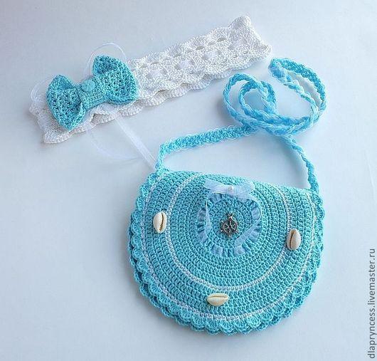 Сумочка детская и повязка на голову - полезный подарок, маленькой Путешественнице.