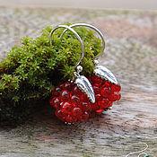 Украшения handmade. Livemaster - original item Silver earrings Bright raspberry berries. Handmade.