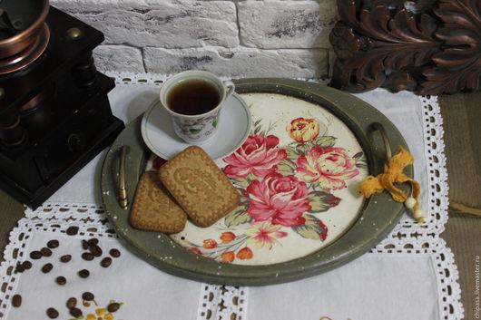 """Кухня ручной работы. Ярмарка Мастеров - ручная работа. Купить Поднос """" Чашка чая """". Handmade. Поднос для кухни"""
